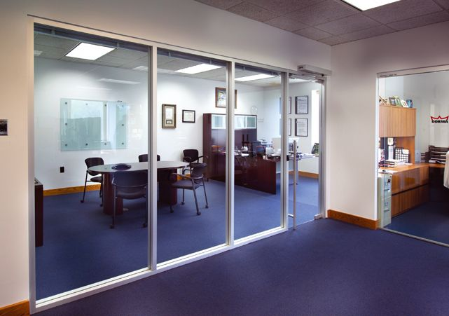 This is an image of DORMA Interior Glass Wall Systems | New Office