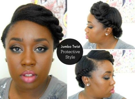 Twisted Updo Hairstyles For Black Women