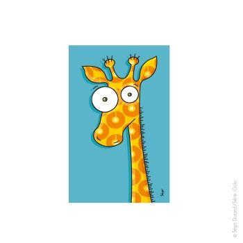 tableau girafe 22x14 cm rigolo pinterest rigolo animaux rigolo et afrique. Black Bedroom Furniture Sets. Home Design Ideas
