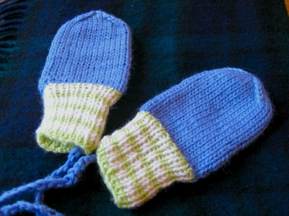 Anleitung Babyfäustlinge Ohne Daumen Stricken Knitt