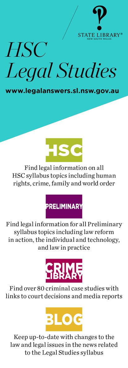 HSC bookmark. Use when promoting the service to HSC Legal Studies students and teachers.