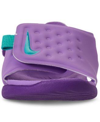 hot sale online c4956 f13cf Nike Toddler Girls  Sunray Adjust 5 Sandals from Finish Line - Purple 10