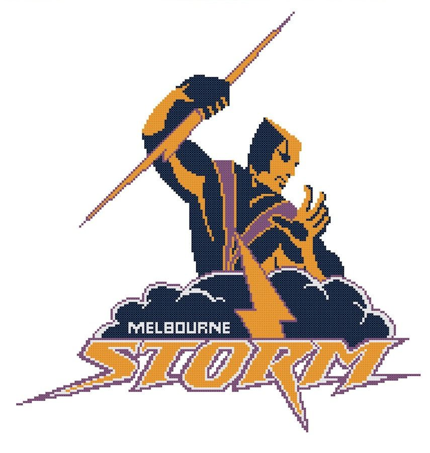 I'm selling Melbourne Storm cross stitch chart - A$3.30 #onselz