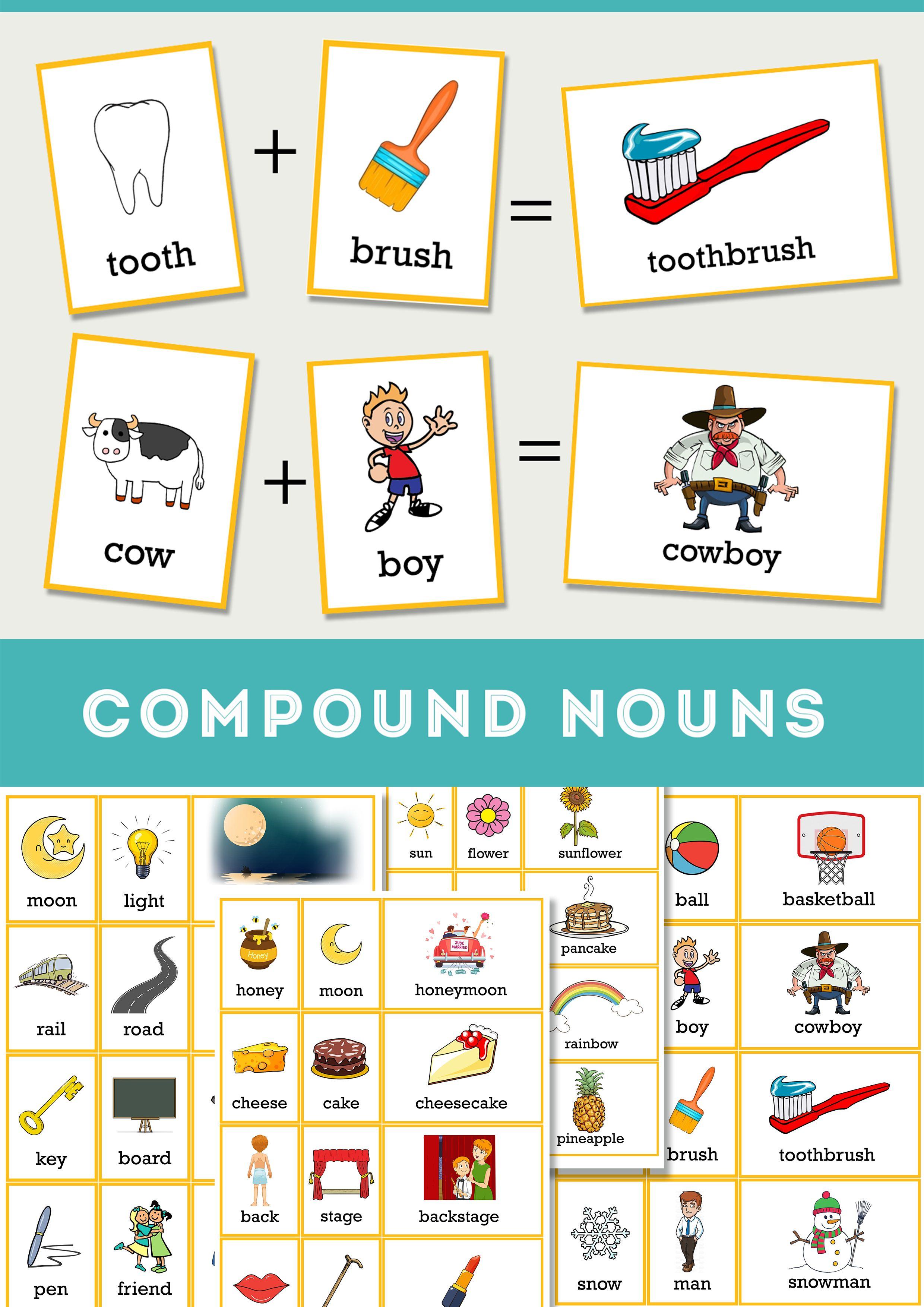 Compound Nouns Teaching Resources Nouns Teaching Nouns Compound Words [ 3508 x 2480 Pixel ]