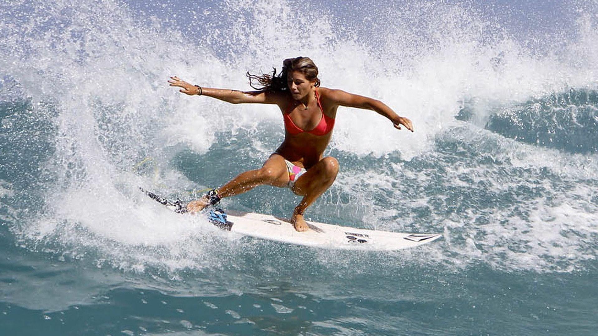 Female surfers