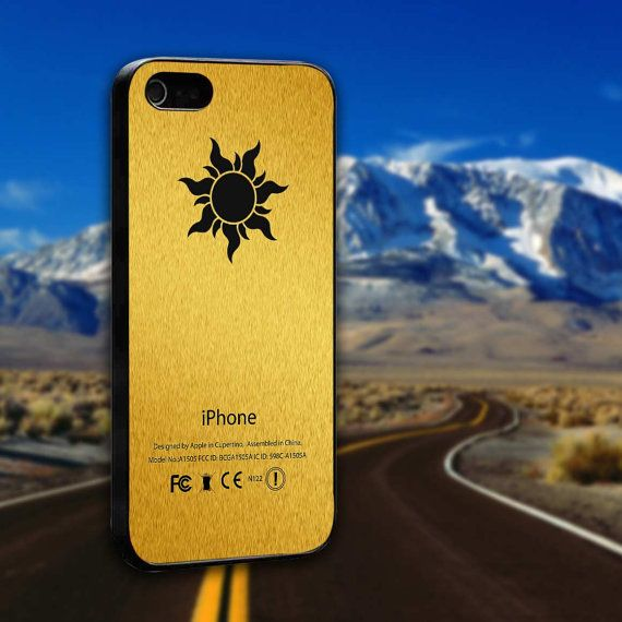 Disney Tangled Gold Symbol - ArtCover - Hard Print Case iPhone 4/4s, 5, 5s, 5c and Samsung S3, S4 on Etsy, $14.89