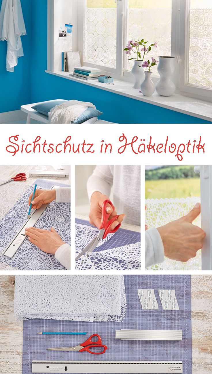 Sichtschutz Furs Fenster Diy Crafts Oilcloth Tablecloth Diy