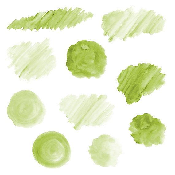 20 Green Watercolor Splotches Splatters Brush Strokes Green Watercolor Clip Art Transparent Background Png Watercolor Design Elements In 2021 Green Watercolor Watercolor Transparency Brush Strokes