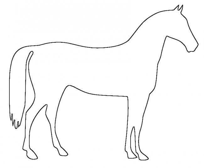 50 Horse Shape Templates Crafts Coloring Pages Animal