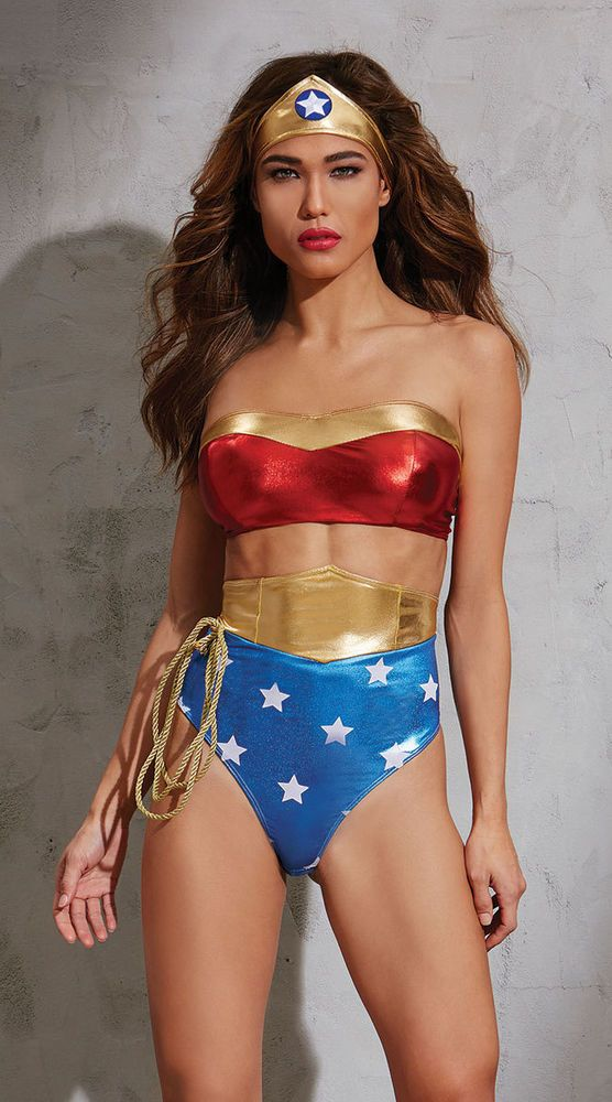 48a8c280caf Wonder Woman Lingerie COSTUME PlusSize AMERICAN HOTTIE Teddy Romper NWT  SEXY #Dreamgirl