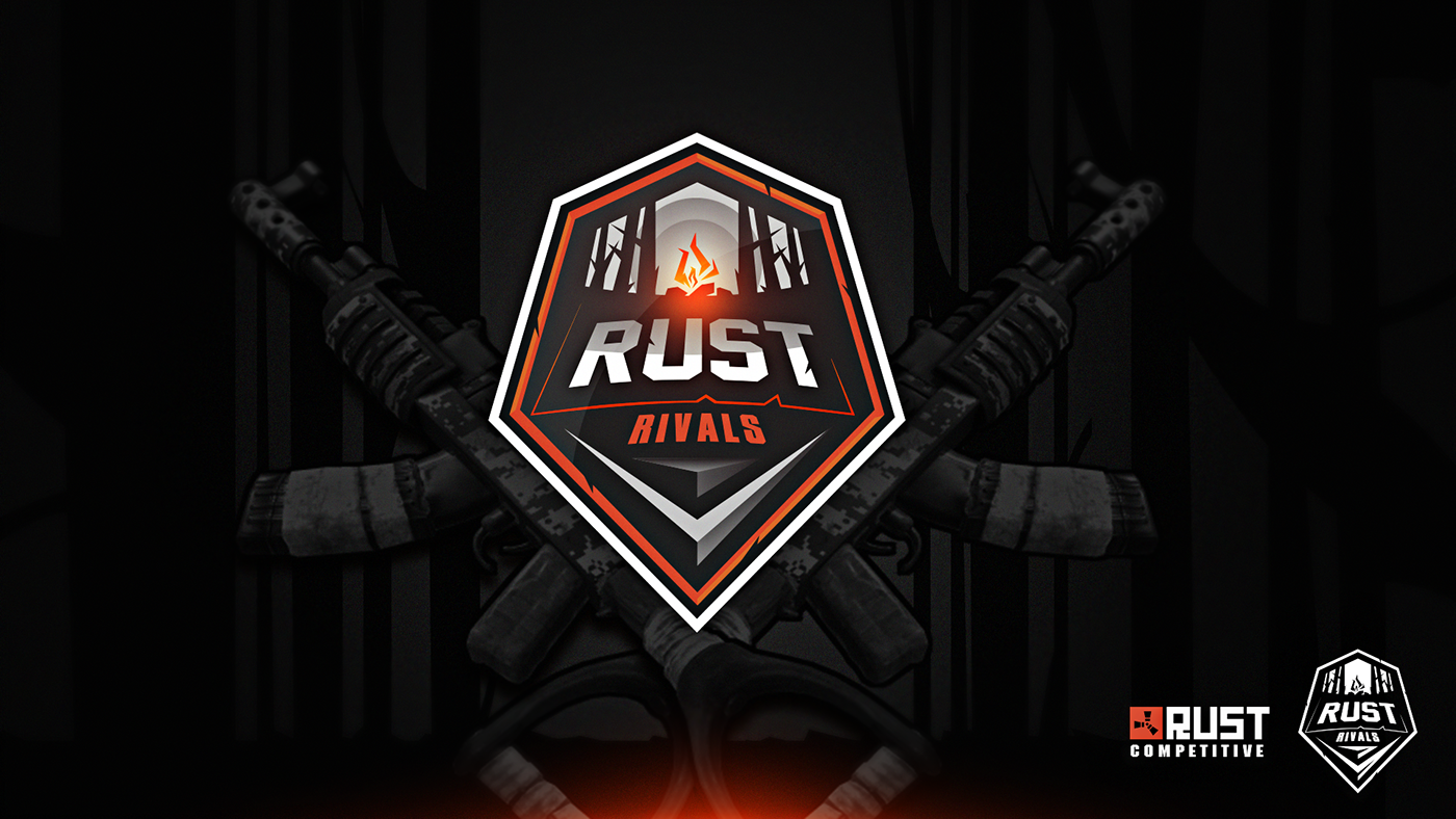 Rust Rivals Logo Unfinished On Behance Sports Team Logos Logos Unfinished
