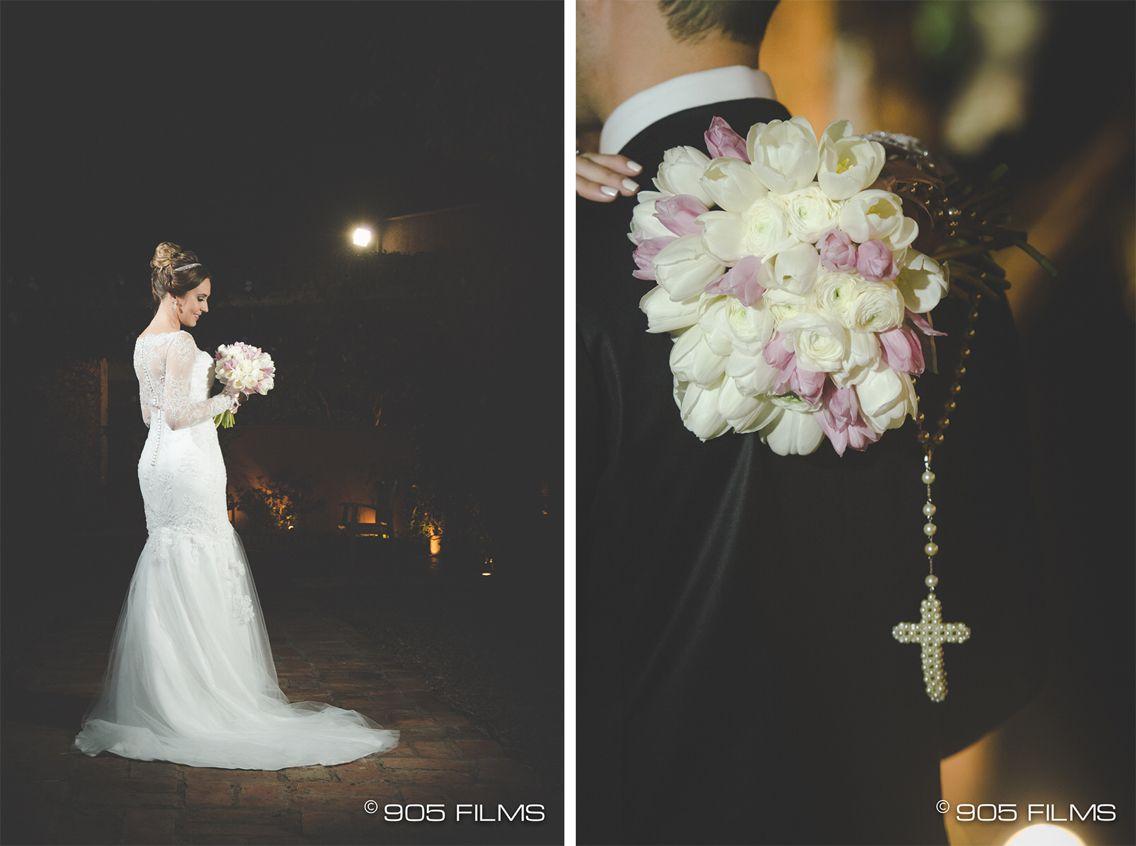 Casamento Dani e Fer - Vestido dos sonhos e Buquê apaixonante!