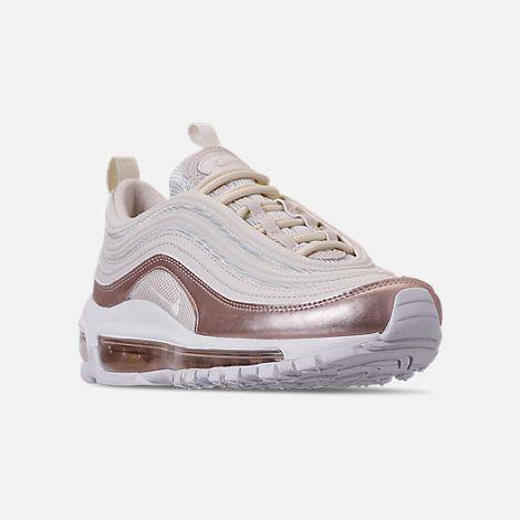 on sale 65da5 70fce Three Quarter view of Girls  Big Kids  Nike Air Max 97 Casual Shoes in  Phantom Phantom Metallic Red Bronze White