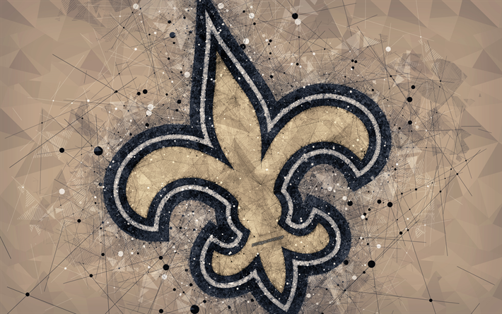 Download wallpapers New Orleans Saints, 4k, logo