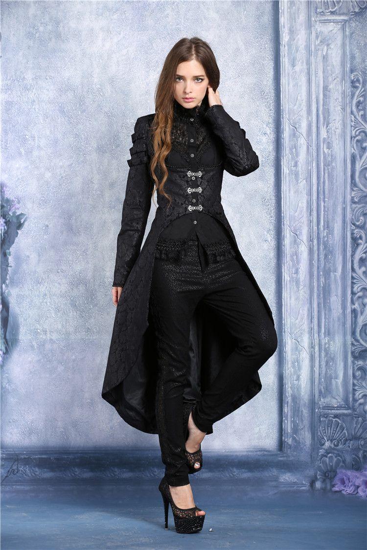 0d3720fbb4c3 Longue veste noire courte devant sous la poitrine vampire baroque gothique    JAPAN ATTITUDE - DARKIL021 Shop   www.japanattitude.fr
