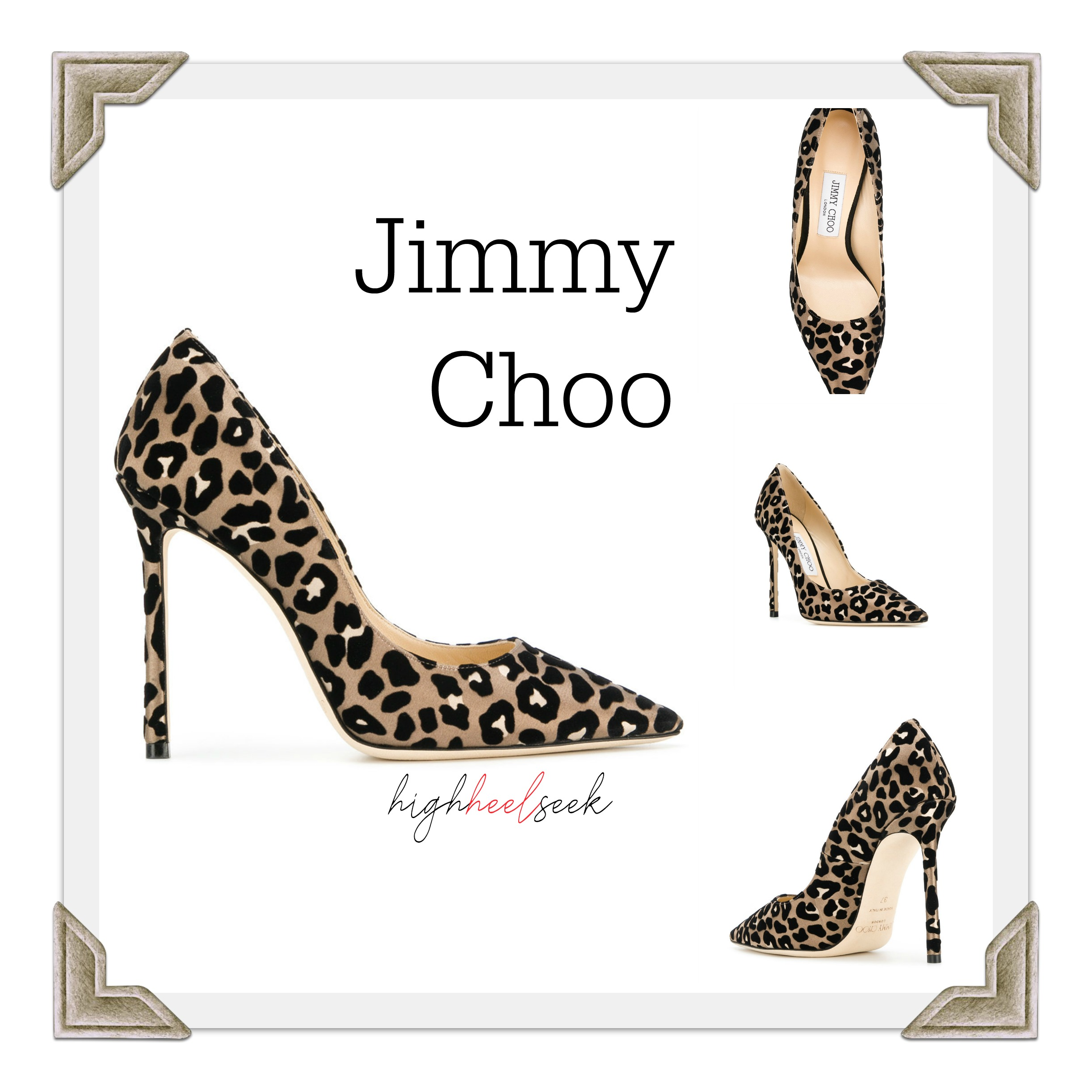 42a84e8ae1cb Jimmy Choo Heels, Romy Pumps in Leopard Print Heels Designer Shoes,  Designer Brand Heels