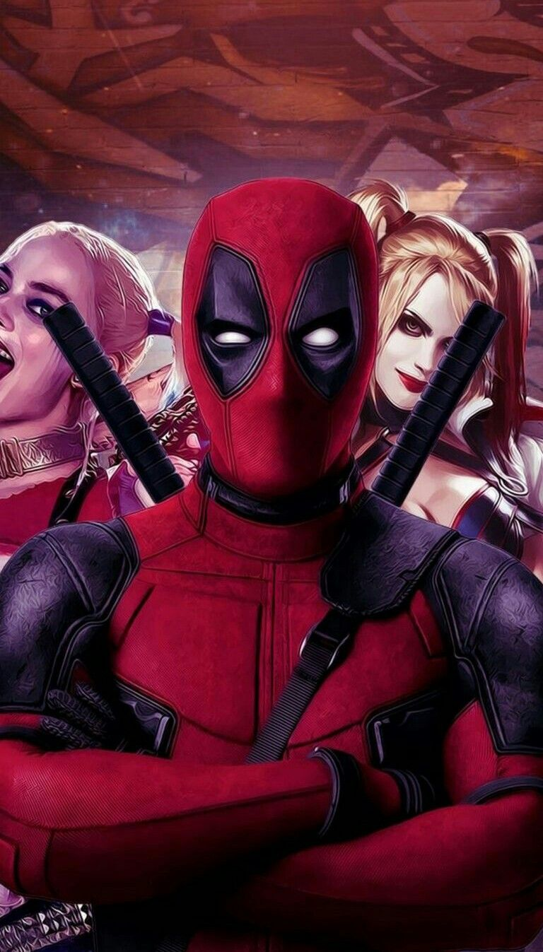 Deadpool With Harley Quinn Deadpoooool Abby Deadpool