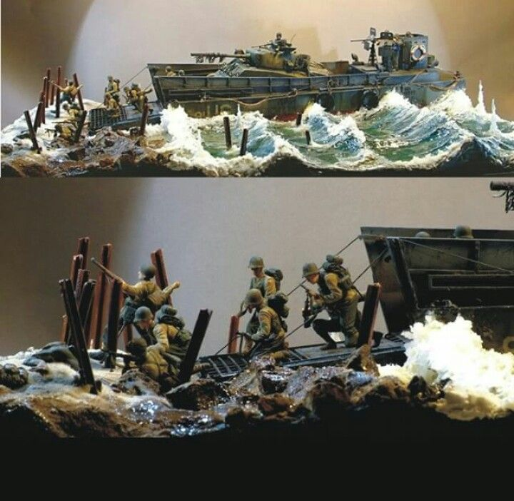 D-DAY DIORAMA JUNO BEACH PART 2   scale modeling   Military