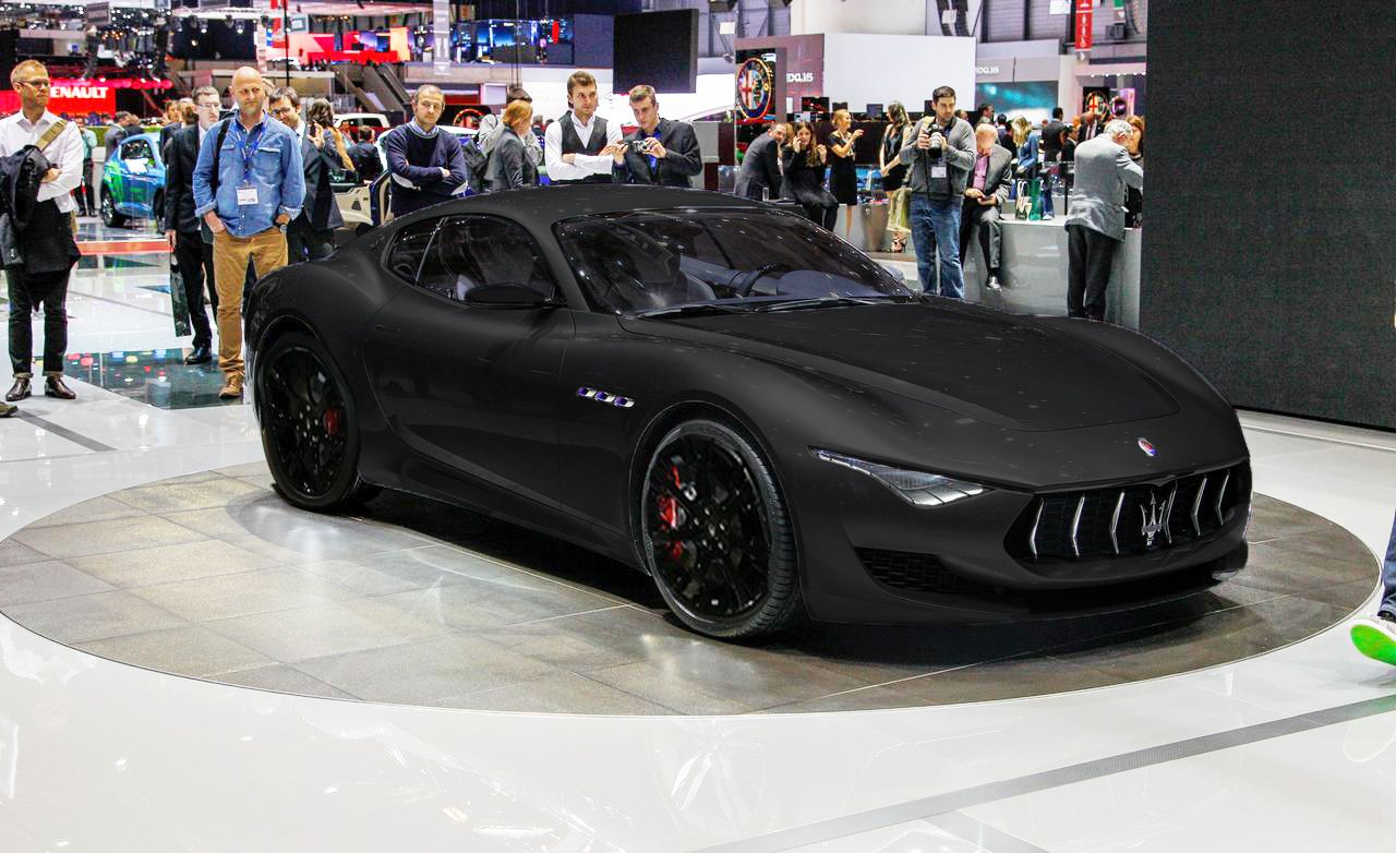 The 2017 Maserati on the front door,with