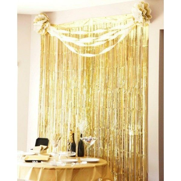 Decoration Item Foil Tinsel Party Curtain Backdrop Photo Shooting Decoration Streamer Backdrop Backdrops For Parties Fringe Backdrops