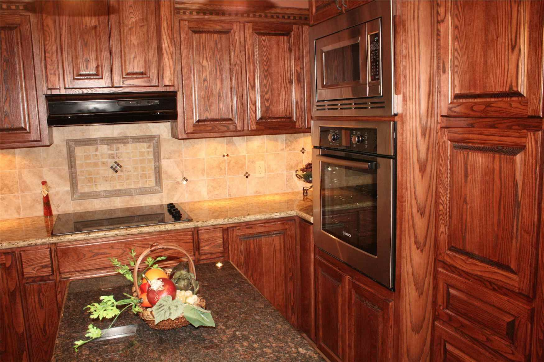 Ash Kitchen Cabinets Sink Basket Strainer Custom With Built In Appliances