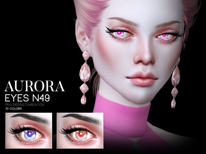 Unique eyes in 10 colors.  Found in TSR Category 'Sims 4 Eye Colors'