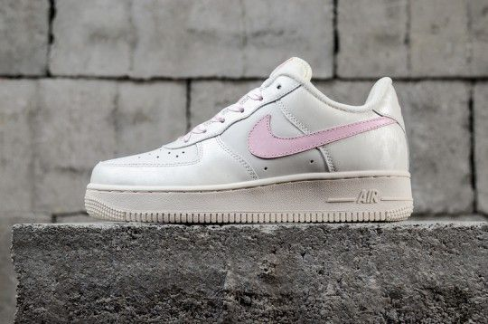 brand new 759fd 08855 Nike Air Force One 1 Low Sail Artic Pink Satin 314219 130 GS