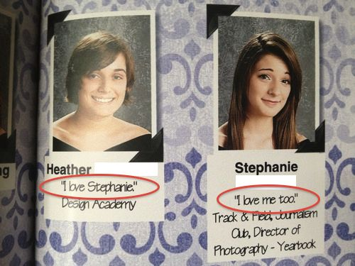 "Funny Yearbook Names: Sisters Agreed To Write ""i Love [EachothersName]"" In The"