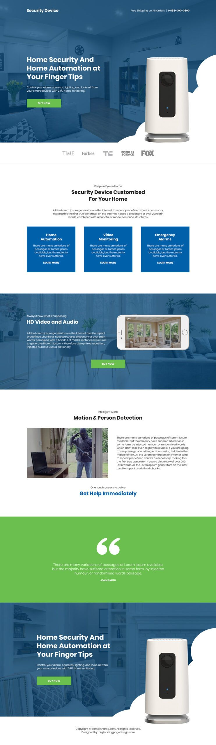 Home Security And Automation Device Landing Page In 2021 Home Security Home Security Devices Security Device