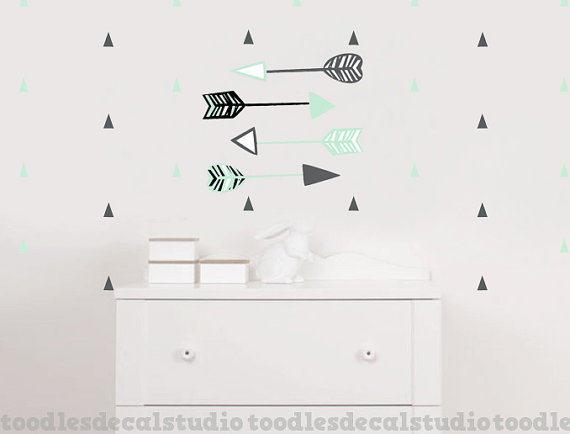 Arrow Wall Decals Reusable Fabric Stickers Made In The Usa By