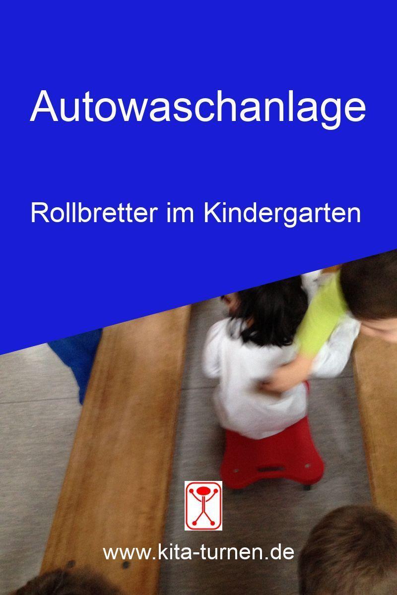 Rollbretter im Kindergarten - Autowaschanlage für Rollbrett-Autos