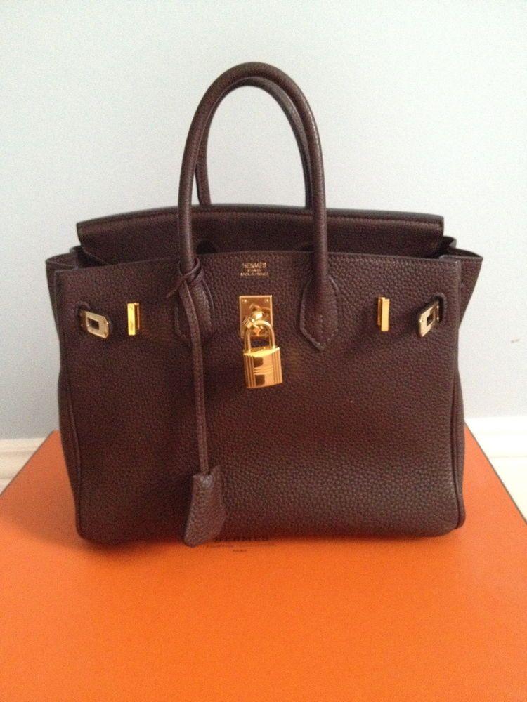 Authentic Chocolate Brown 25cm Hermes Birkin Bag  b4b5879d4330e