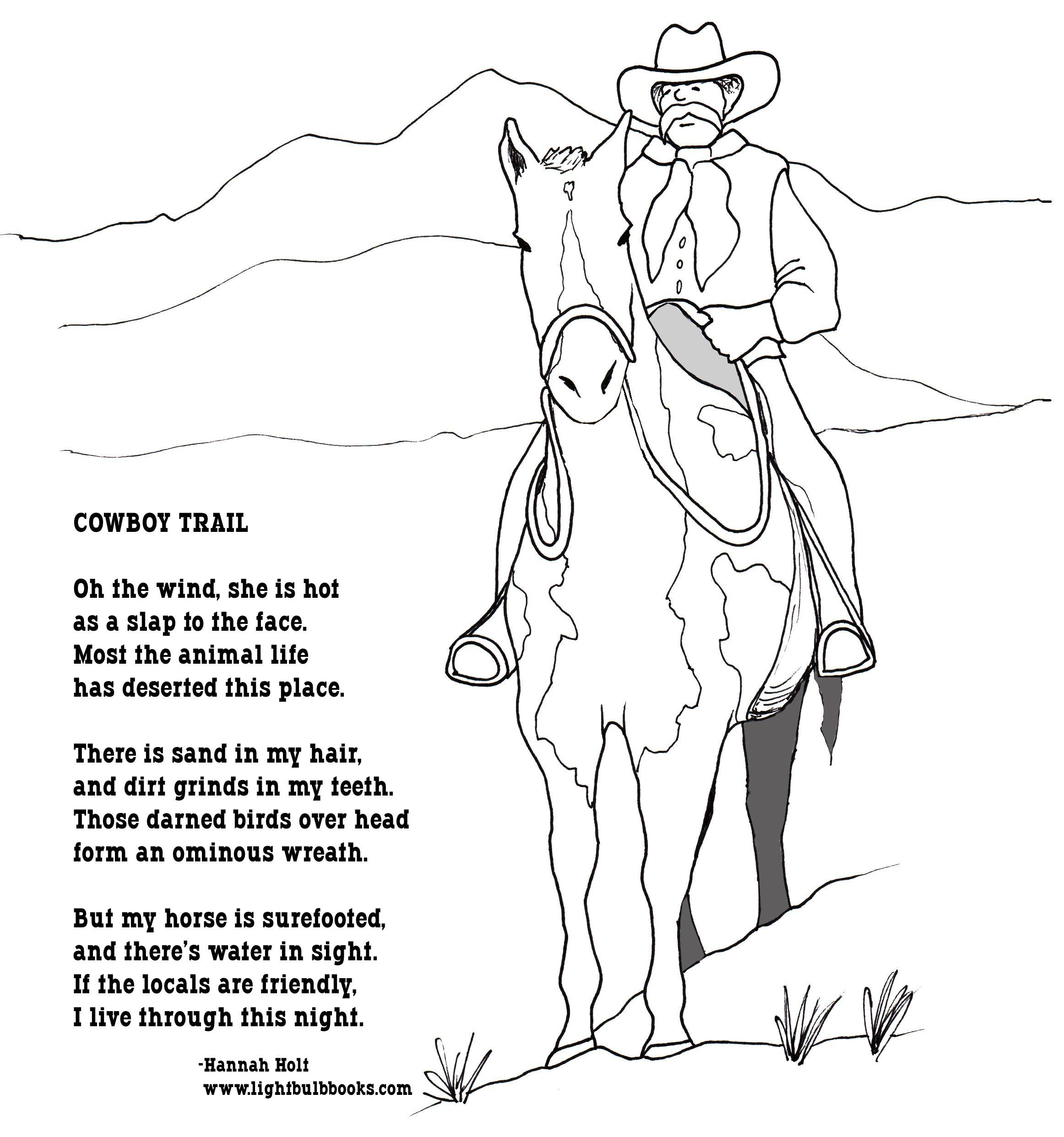 Cowboys Activity Book Google Search Cowboy Poetry Poetry