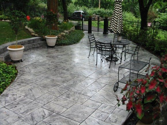 Yes You Can Make That Dull Concrete Look Marvelous With Decorative Concrete  Techniques.  M :: Stamp New Ashlar Slate Patio Gray (Patio Step Slate)