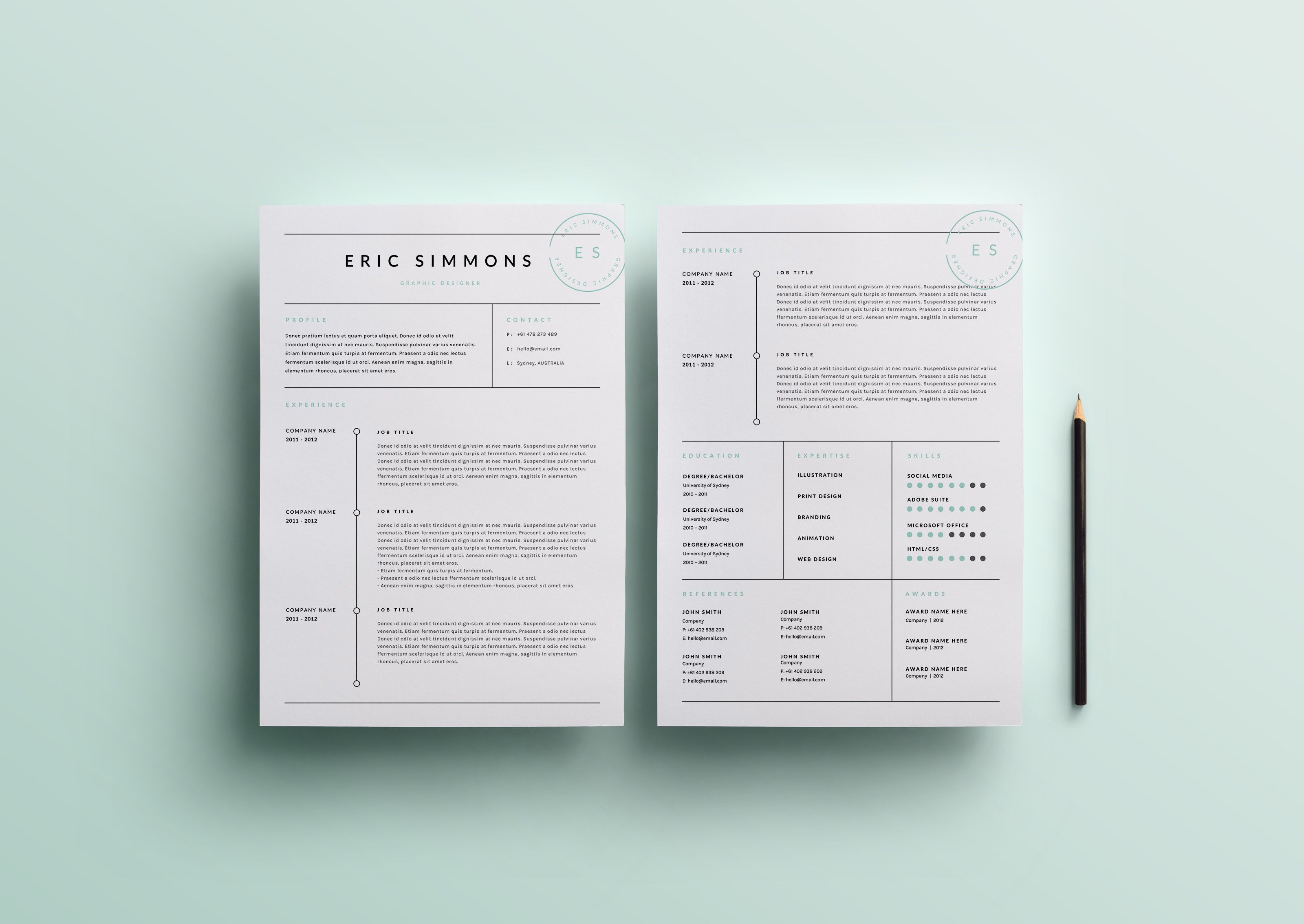 Cool 10 Envelope Template Big 1099 Excel Template Round 2 Column Website Template 2014 Blank Calendar Template Old 2015 Calendars Templates Green2015 Resume Keywords 3 Page Resume Template | INDD   DOCX By BlackDotResumes On ..
