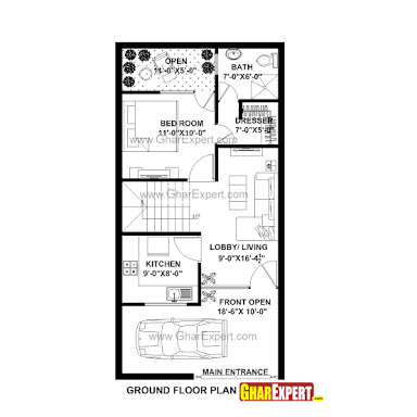 Image result for 20 x 40 800 square feet floor plan