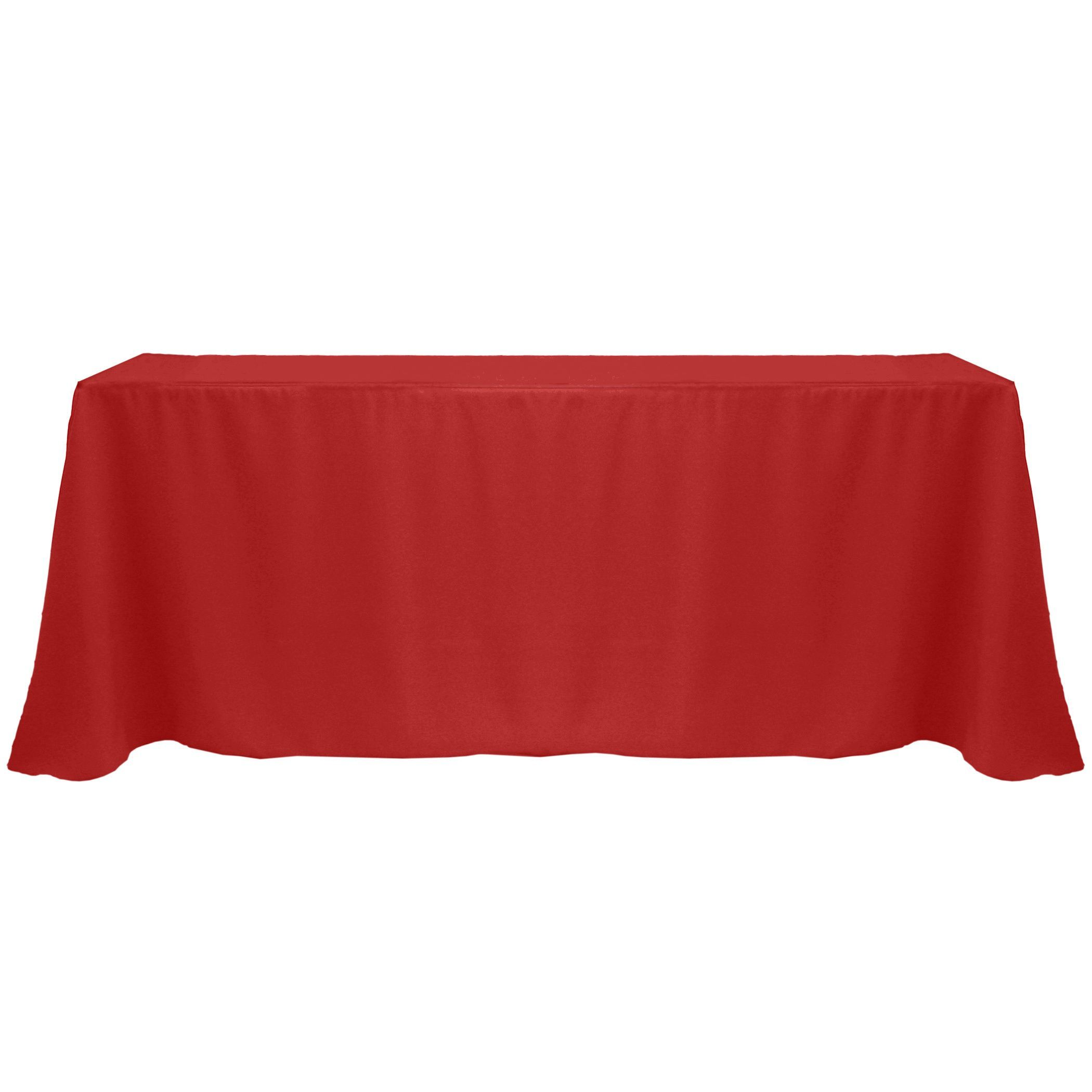 Solid Color 90 X 132 Inches Vibrant Color Tablecloth (ICE Blue)