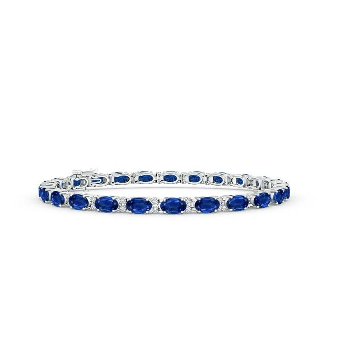 Angara Stunning Tennis Diamond Bracelet in White Gold P090D8G0Z