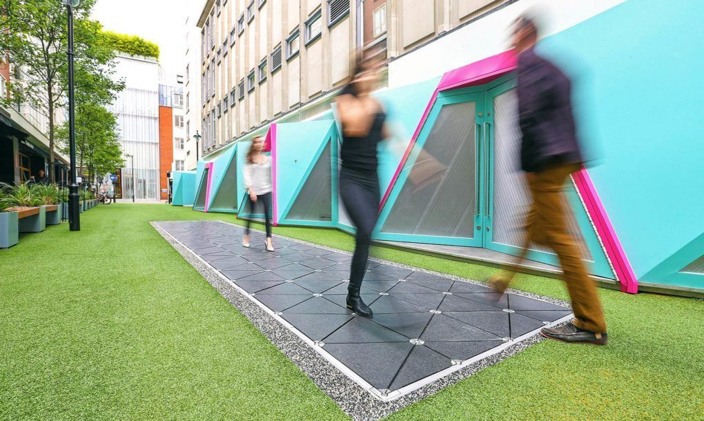 Image 1 Of 6 From Gallery Of World 39 S First Quot Smart Street Quot In London Turns Footsteps Into Energy Via Pavegen Energy Harvesting London Energy