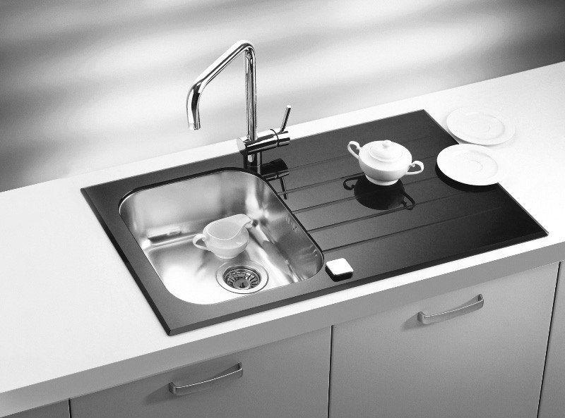 Alveus Glassix 10, inset sink, glass/ stainless steel | Pinterest ...
