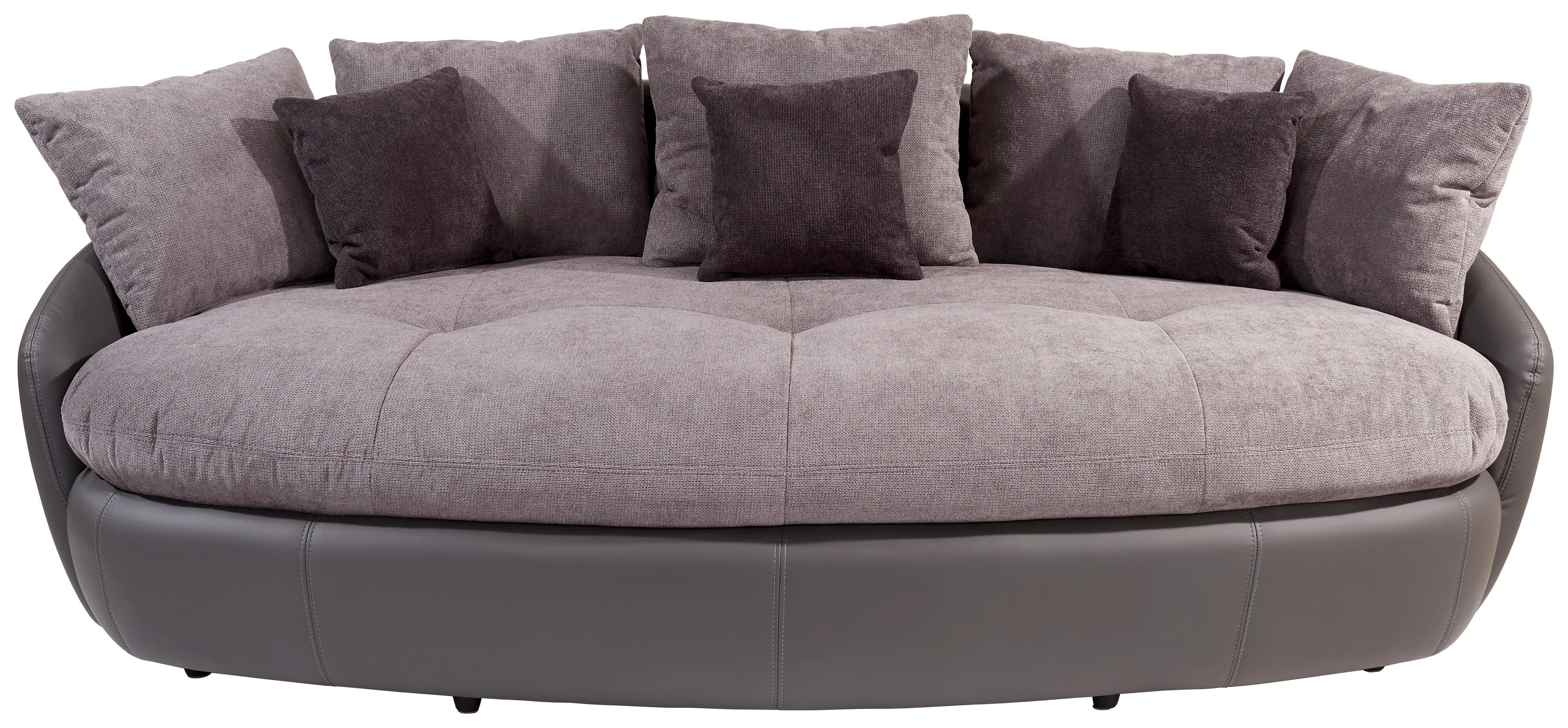 Das Formschöne Mega Sofa ARUBA II Mit 6 Großen Und 3 Kleinen Kissen Ist An