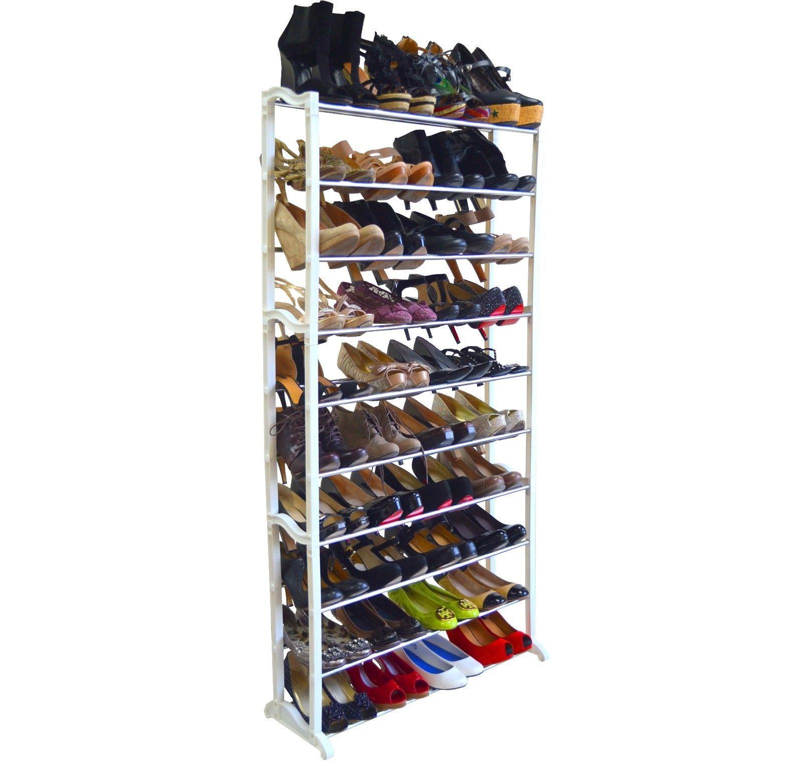 Linen Depot Direct 40 Pair Shoe Rack Shoe Rack 50 Pair Shoe
