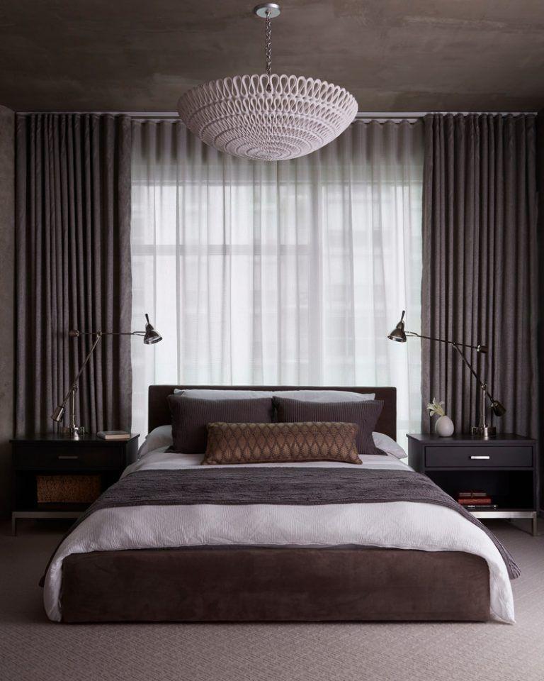 50 Stylish Bedroom Curtain Ideas J Birdny Dark Master Bedroom