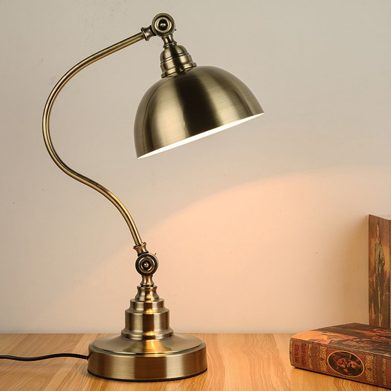 Wholesale Price + Free Shipping #Indoor Lighting American retro antique  bronze desk lamp simple bedroom bedside lamps and lanterns to study the  countryside ... - American Retro Antique Bronze Desk Lamp Simple Bedroom Bedside Lamps