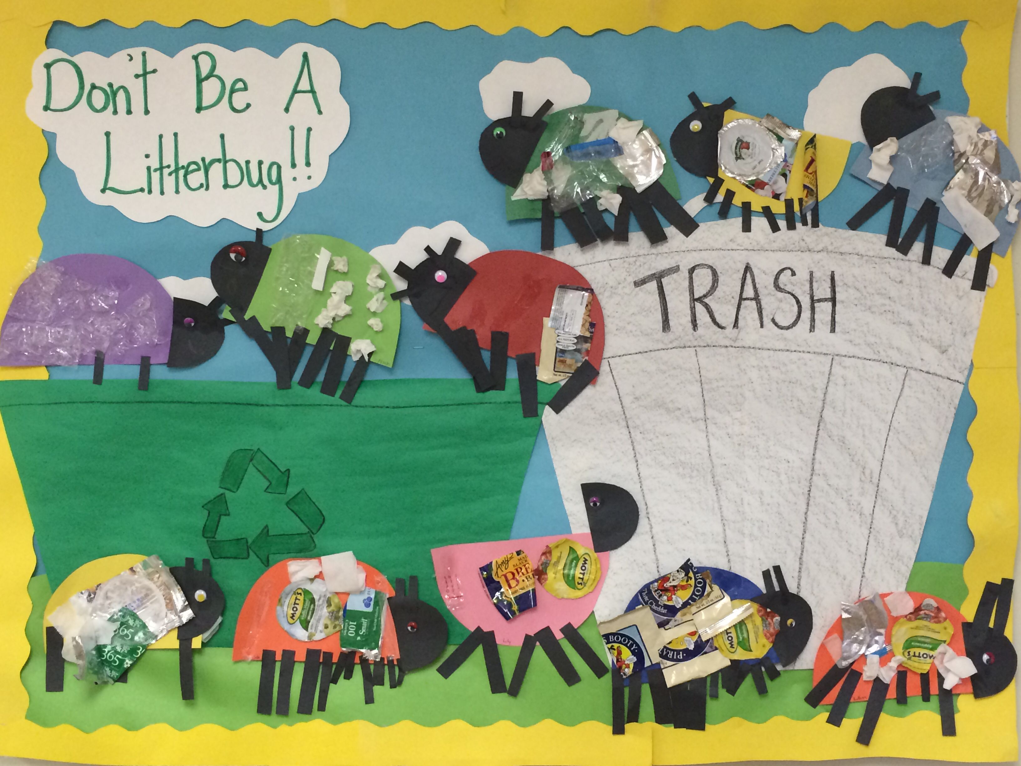 Don T Be A Litterbug Earth Day Project