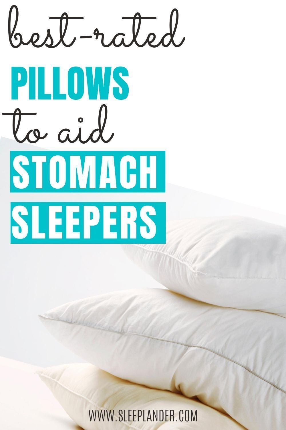 Best Pillow For Stomach Sleepers Our 5 Top Picks In 2020 Stomach Sleeper Stomach Sleeper Pillow Best Pillow