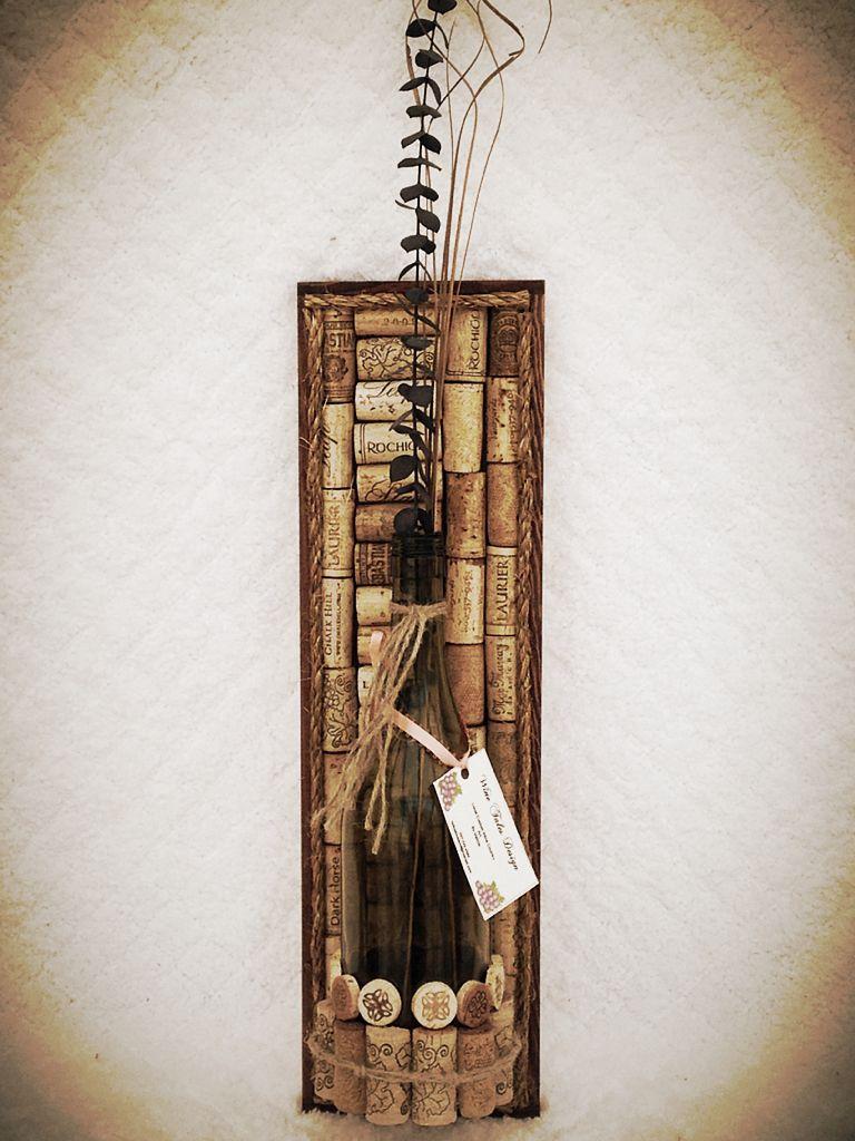cork wine bottle wall hanging  #wine #corks #wall hanging #bottles
