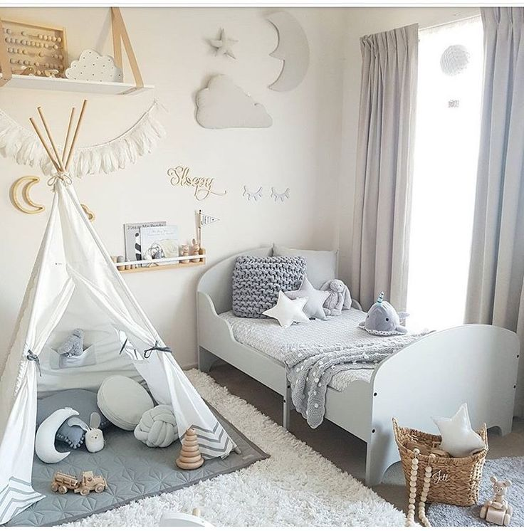 Neutral Colors For Shared Kids Room: Not These Colors... But Maybe A Toddler Bed Under The