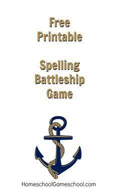 Free Printable Spelling Battleship Game  School