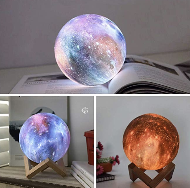 Night Light For Kids Moon Lamp 16 Colors Led 5 9 Inch 3d Print Star Moon Light With Stand Night Light Kids Star Lamp Led Color